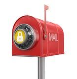 Protection de boîte aux lettres (chemin de coupure inclus) Photo libre de droits