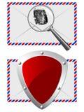 Protection de courrier Photos stock