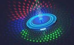 Protection de données numériques Sécurité d'Internet dans le réseau global Cyberespace de concept de l'avenir