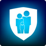 Protection de famille Images stock