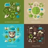 Protection de l'environnement, bannières de concept d'écologie Photos stock