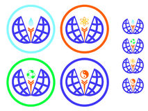 Protection de l'environnement d'icônes et réutilisation, yang de yin de symbole illustration libre de droits