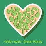Protection de l'environnement de carte postale verte Photographie stock libre de droits