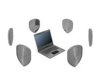 protection de l'information Image stock