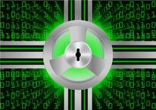 Protection de sécurité abstraite de Digital de fond ; Concept de sécurité de Cyber Photographie stock libre de droits