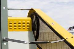 Protection de sécurité de garde de ceinture de moteur Images libres de droits