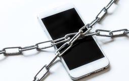 Protection de smartphone de concept sur le fond blanc photographie stock libre de droits