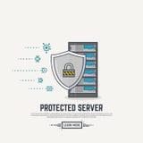 Protection de virus de serveur Photo stock