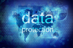 Protection des données Images stock