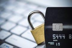 Protection des données de carte de crédit photographie stock libre de droits