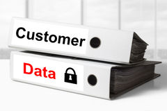 Protection des données de client de reliures de bureau Photos libres de droits
