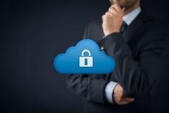 Protection des données de nuage photographie stock