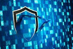 Protection des données, protection des données d'ordinateur, pare-feu de réseau et concept de entailler photo libre de droits