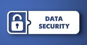 Protection des données sur le bleu dans le style plat de conception. Photo libre de droits
