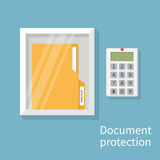 Protection document, concept Stock Photo