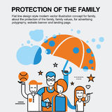 Protection of the family concept Stock Image