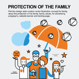 Protection of the family concept Royalty Free Stock Image