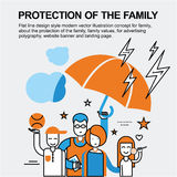 Protection of the family concept Stock Photography