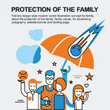 Protection of the family concept Royalty Free Stock Photos