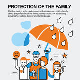 Protection of the family concept Royalty Free Stock Images