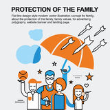 Protection of the family concept Royalty Free Stock Photo
