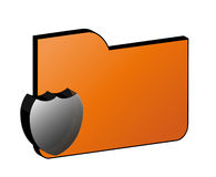 Protection file icon. Symbol of folder (file, information, etc) protection Royalty Free Stock Photography
