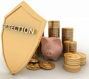 Protection of finance Stock Photo