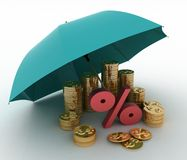 Protection of finance Royalty Free Stock Images