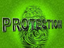 Protection Fingerprint Indicates Password Login And Private Royalty Free Stock Photo