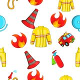 Protection from fire pattern, cartoon style Stock Image