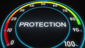 Protection futuristic meter or indicator. 3D rendering. Futuristic meter conceptual 3D rendering vector illustration