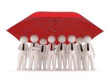 Protection - gens d'affaires 3d Photographie stock libre de droits