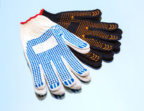 A protection glove, fabric Royalty Free Stock Photo