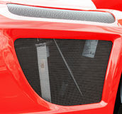 Protection grille of the radiator of the tractor engine Royalty Free Stock Photo