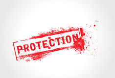 Protection grunge text Royalty Free Stock Images