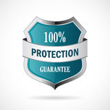 Protection guarantee vector shield icon. Illustration Royalty Free Stock Photography
