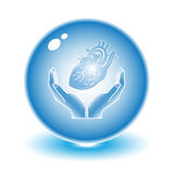 Protection of heart vector illustration