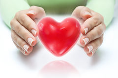 Protection heart concept Royalty Free Stock Image