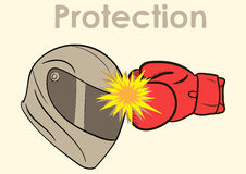 Protection of a helmet Stock Image