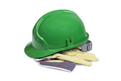 Protection helmet and gloves Royalty Free Stock Photo