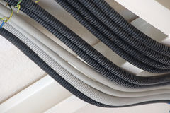 Protection hose for electrical wires Royalty Free Stock Images