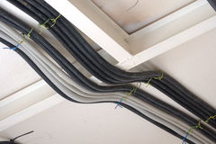 Protection hose for electrical wires Royalty Free Stock Photo