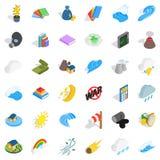 Protection icons set, isometric style Royalty Free Stock Photo