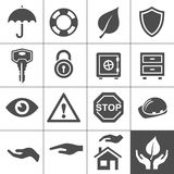 Protection Icons. Simplus Series Stock Images