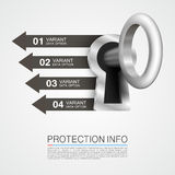 Protection info art key banner Stock Photo