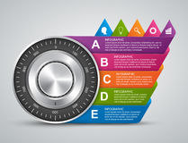 Protection information. Combination safe lock design concept infographics. Royalty Free Stock Photos