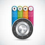 Protection information. Combination safe lock design concept infographics. Stock Image
