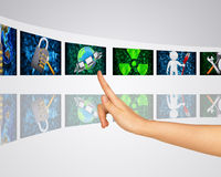 Protection of information. Virtual screens Royalty Free Stock Photos