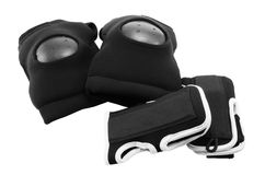 Protection of knees and wrists  snowboarder Royalty Free Stock Photo