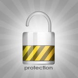 Protection lock Stock Photo